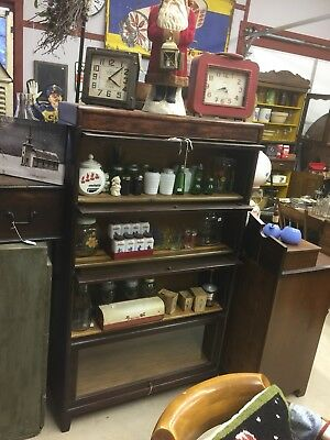 Antique Four Stacker Lawyer Bookcase