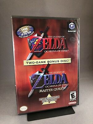 *New & Sealed* GameCube Game THE LEGEND OF ZELDA OCARINA OF TIME + MASTER QUEST