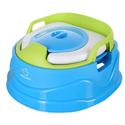 Toilet Training Baby Kids Children Travel Potty Seat Step Stool 3in1 Seat Pink