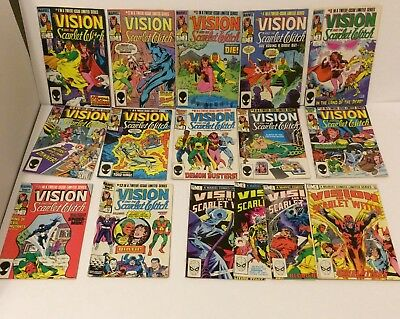 Vision and the Scarlet Witch 1 - 12 and 1 - 4 COMPLETE SETS Excellent Condition