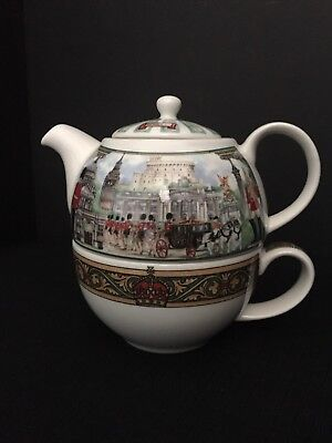James Sadler - Stacking Teapot Cup - Tea for One - Horseguards T41-In Box
