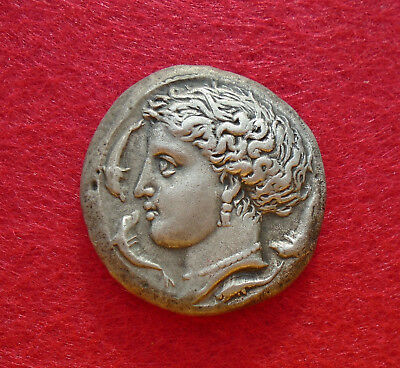 SICILY. Syracuse. Time of Dionysius I (405-367BC). AR Decadrachm, silver, 43,25g