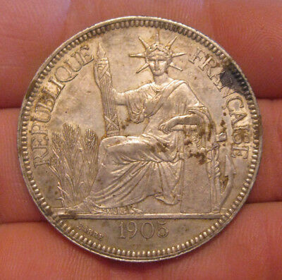 French Indo-China - 1905A Large Silver Piastre