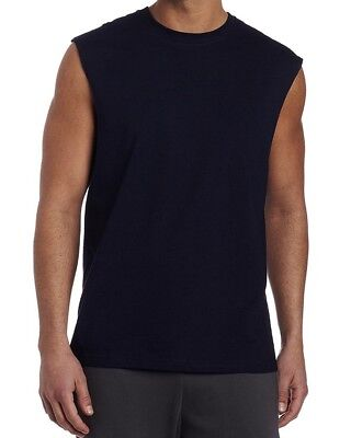 5fcf8ad96bd1f3 Russell Athletic Men Sleeveless Muscle Tshirt Tee Top Navy XL Extra Large  NWT