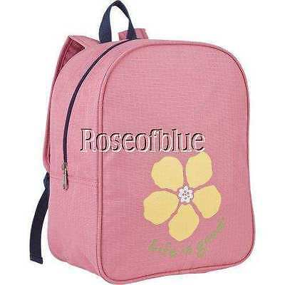 LIFE IS GOOD BACKPACK CHILD PINK Gym School Travel Overnight Bag Floral Luv