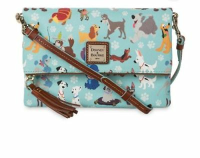 Dooney & Bourke Disney Dogs Foldover Crossbody Bag NWT