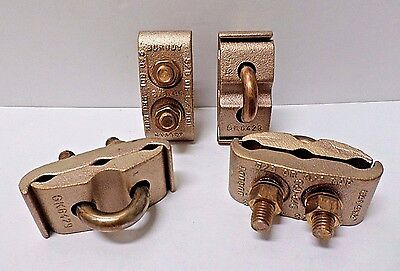 Burndy GK6429 5/8in Mechanical Grounding Clamp Connector - Lot of 4 NO PKG**