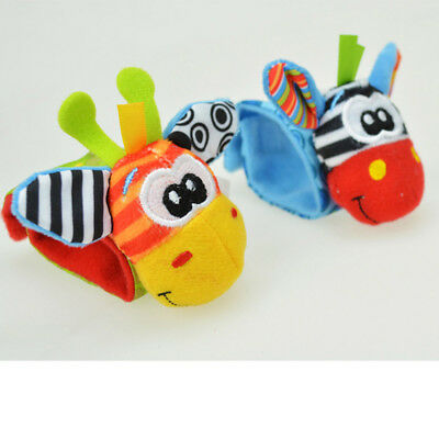 1pc Newborn Baby Boy Girl A Infant Soft Toy Wrist Rattles Finders Wristband Cool