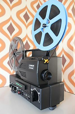 CHINON SP-330 SUPER 8 8MM SOUND RETRO CINE FILM MOVIE PROJECTOR Pristine condn