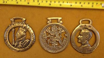 Vintage Brass Horse Bridle Medallions Horses Tack Equestrian 3 England English