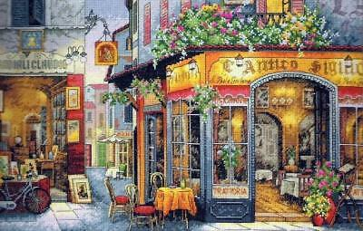 The Bistro - Cross Stitch Chart - Free Post