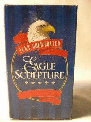 Hampshire  24 Kt Gold Coated  Eagle Sculpture    Nib