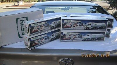 Full Case Of 6 1990 Hess Gasoline Tanker Trucks All New In Boxes And Master Case