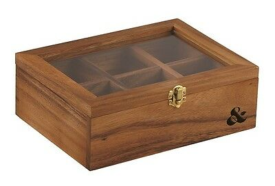 Leaf and Bean Acacia Wood Tea Bag Box RRP $39.99