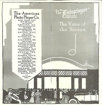 """American Fotoplayer Catalog, """"Voice of the Screen,"""" 1918, 16 pages player piano"""