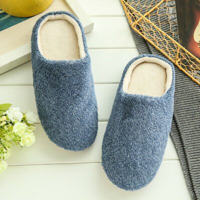 Men's Slippers No Noies Flat Indoor Slipper Shoes Plush Warm Slippers Shoes New