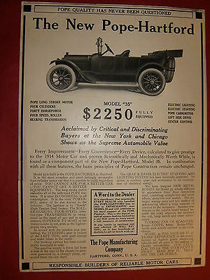 1914 Pope-Hartford  Original Automobile  Ad