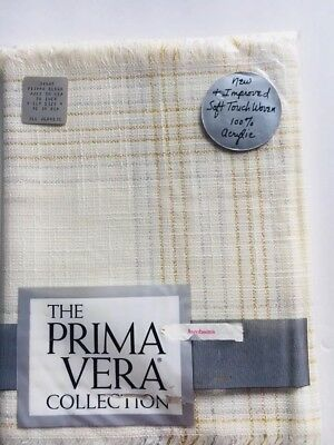 """""""THE PRIMA VERA COLLECTION""""  Vintage 38985 TABLECLOTH-NEW"""