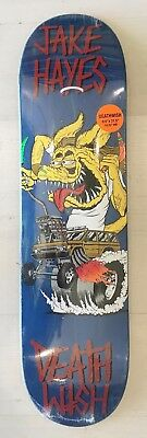 "Deathwish Skateboard Deck 8.0"" JAKE HAYES CREEPS BLUE STAIN FREE GRIP"