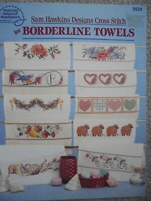 Cross Stitch for Borderline Towels.  Booklet. 22 designs.  17 pages.