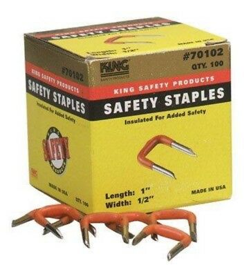 Staples, Insulated, Safety King 70102, 6 Boxes 100 Per Box