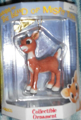 Rudolph Red-Nosed Reindeer Ornament Rudolph Island of Misfit Toys   Rare