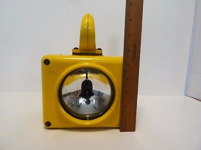 Vintage US Navy Submarine Yellow Lantern Hand Held Flash Light