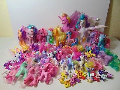 My Little Pony LOT OF 60 Figures Good Condition HUGE LOT Hasbro