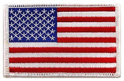 """USA US American Flag Logo Embroidered Patch Sew on Iron On Applique 3.4"""" x"""