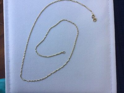 GENUINE 9 Ct Gold /375 YELLOW GOLD NECKLACE. Italian. Excellent Con. 45 Cms Long