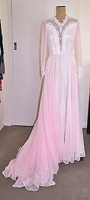 Vintage 70's PINK Wedding Dress