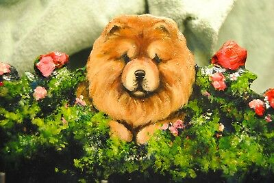 Original Painting~Chow Chow~Dog~Hook~Key~Leash~HANGER~Whimsical~Coat~Art~SALE!