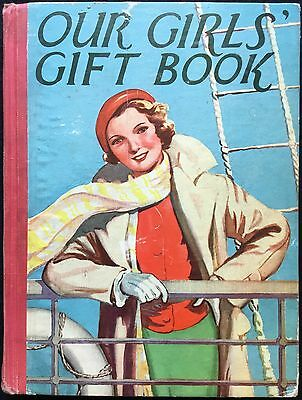 OUR GIRLS GIFT BOOK - 1950's earlier? Colour Plates, Illustrated Stories, London