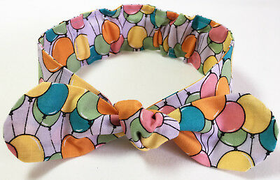 Baby Girl Cotton Headband Multi Coloured Handmade In Australia Baby Shower Gift