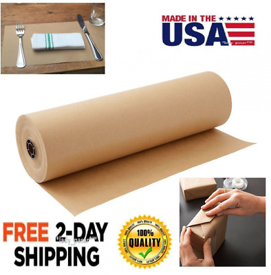Paper Sheet Roll 30x2400 Packaging Wrap Commercial Shipping Mailing Brown