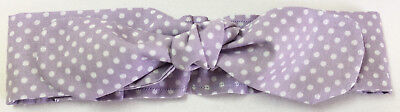 Pale Lilac Dotty Handmade Baby Headband Baby Shower Newborn Headband Baby Gift