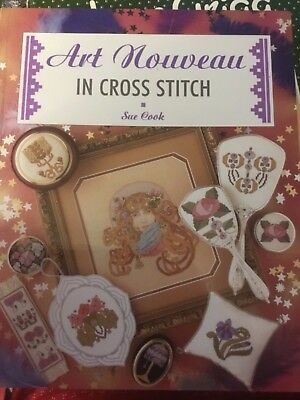 Art Nouveau cross stitch pattern book designed by Sue Cook