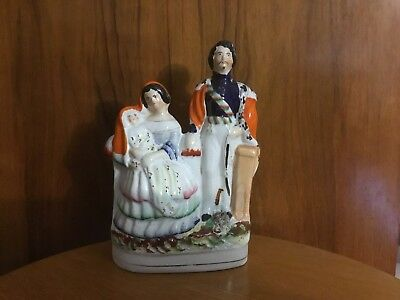 Antique Staffordshire Figure Of Victoria, Albert And Child.