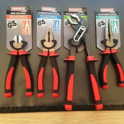 powerfix profi 4x side cutters grips,pliers  german made, not mac tools