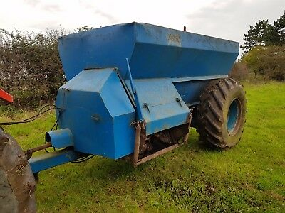 tractor west muck spreader ready for work we deliver No reserve