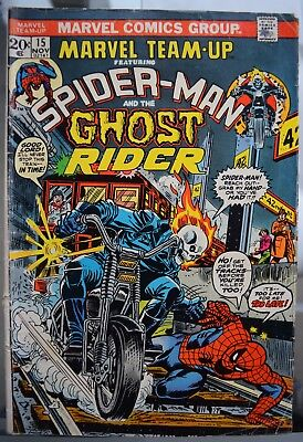 Marvel Team-up #15 featuring Spider-man and Ghost Rider 1973. See description