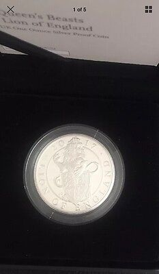 The Queens Beasts lion Of England 1oz Silver Proof Coin With Box And Coa