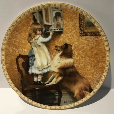 """VINTAGE ROYAL DOULTON CABINET PLATE """" A Victorian Childhood"""" """"Say Please"""""""