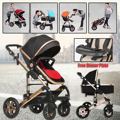 NEW Baby Stroller Newborn Carriage Infant Travel System Foldable Pram Pushchair