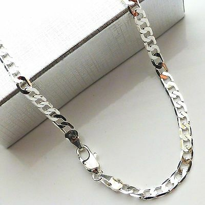 "Silver curb chain 23 to 24""ins 60cm Boys Teenager Mens womesn birthday gift idea"