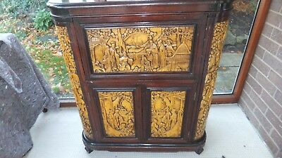 Oriental Carved Drinks Cabinet STUNNING PIECE OF FURNITURE