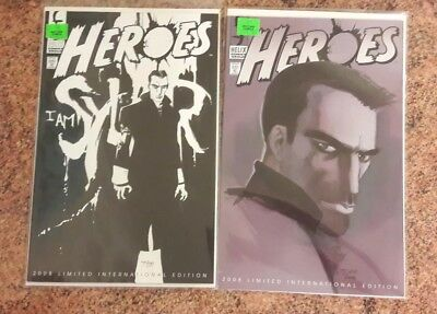 Heroes no.1 x2 cover variants NBC helix comic group 2008 Mint Condition