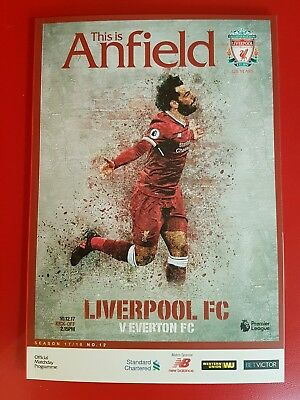 Liverpool v Everton programme brand new 10.12.2017