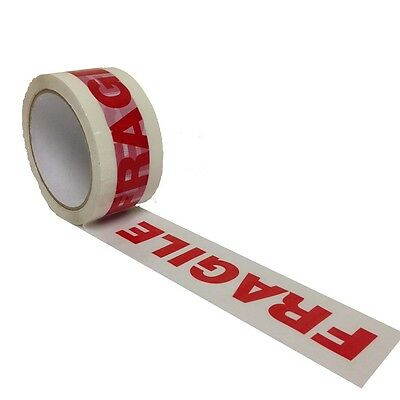 2 Rolls Fragile parcel tape Packing Tape 48mm x 66m