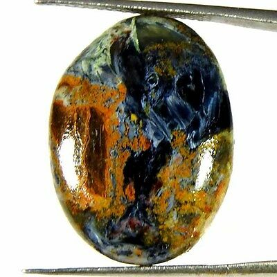 15.40Cts 100%NATURAL DESIGNER SUPER PIETERSITE OVAL CABOCHON UNTREATED GEMSTONE